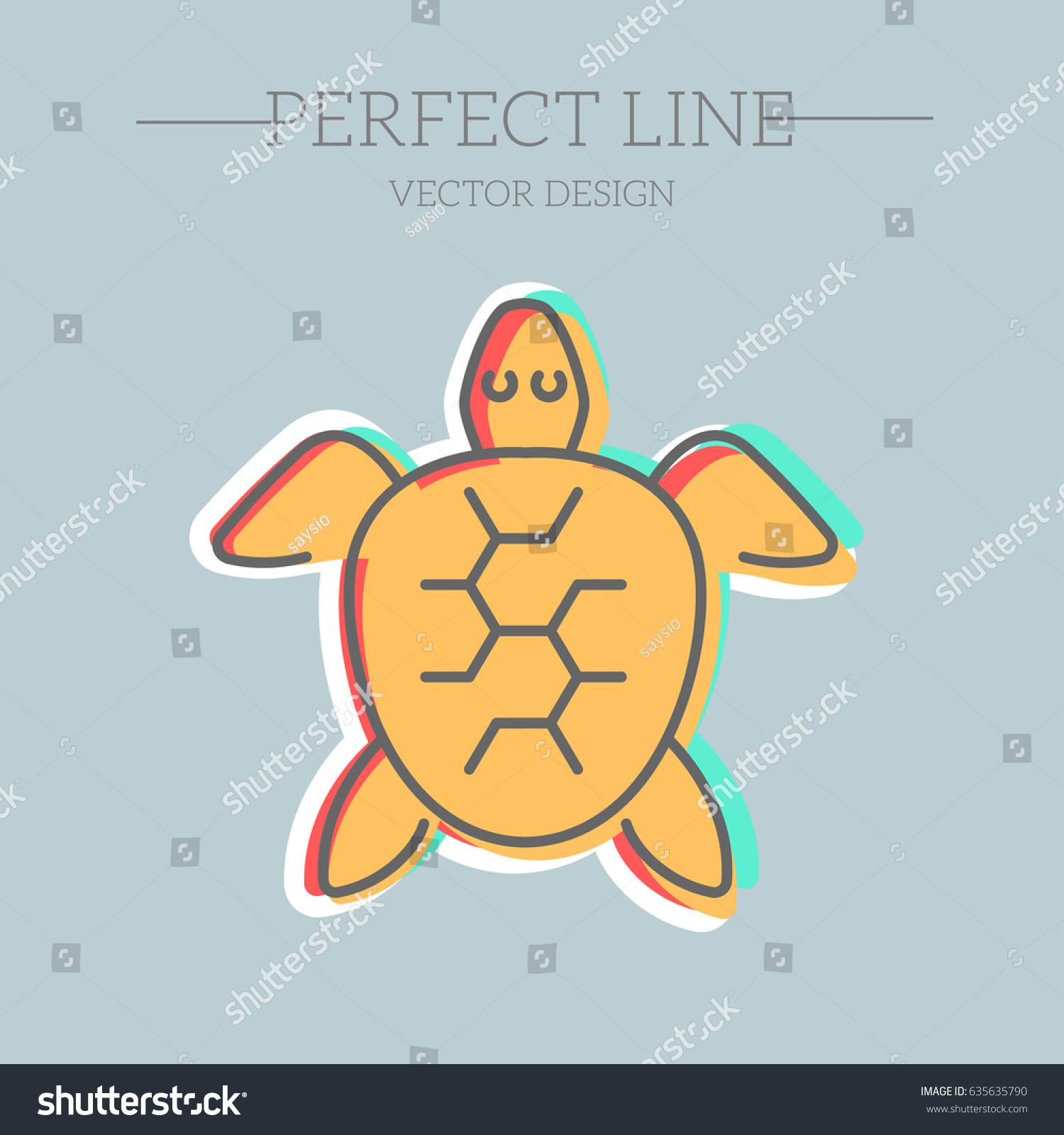 Sea turtle symbol vector icon stock vector 635635790 shutterstock sea turtle symbol vector icon biocorpaavc