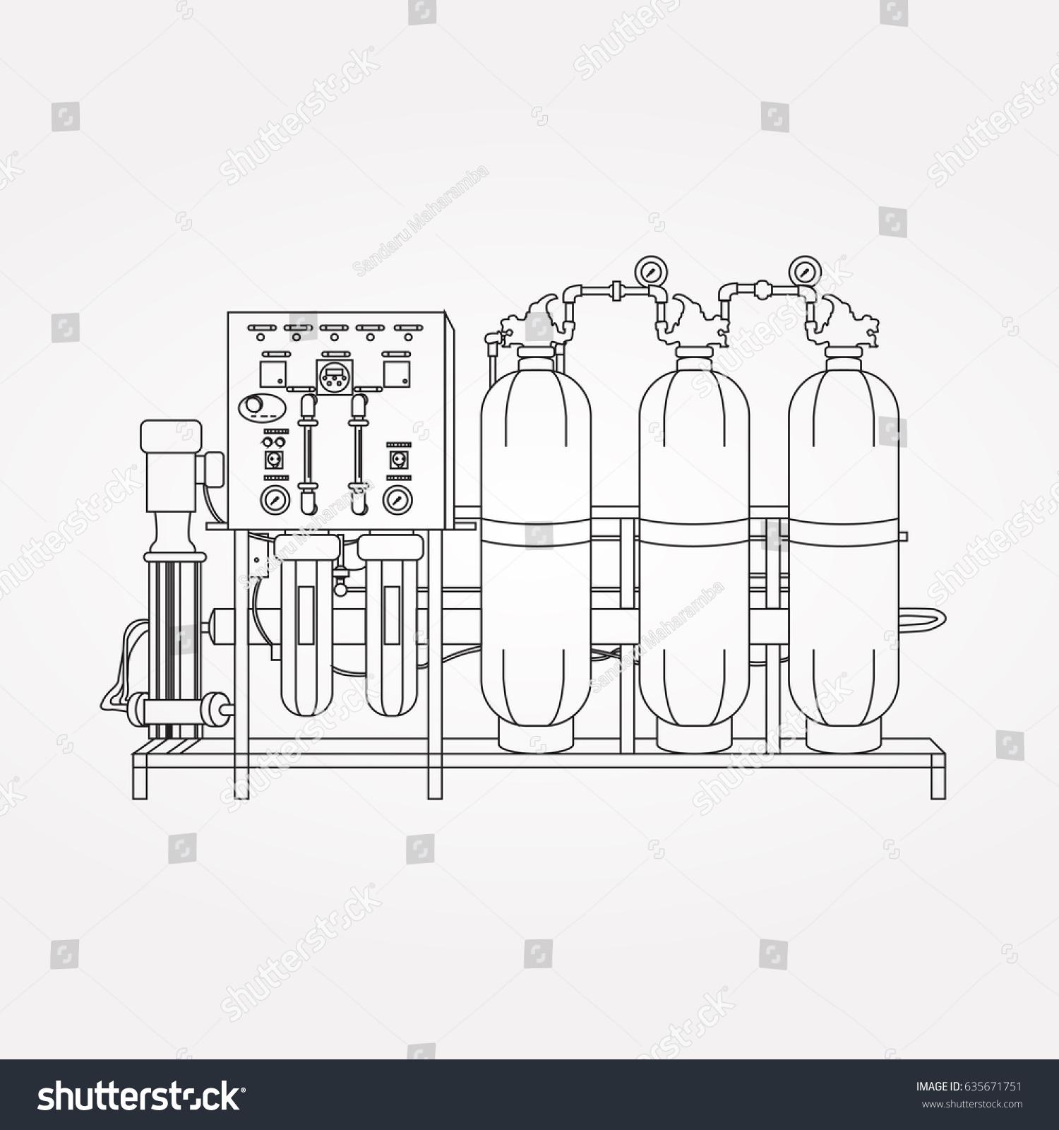 Reverse Osmosis Plant Stock Vector Shutterstock