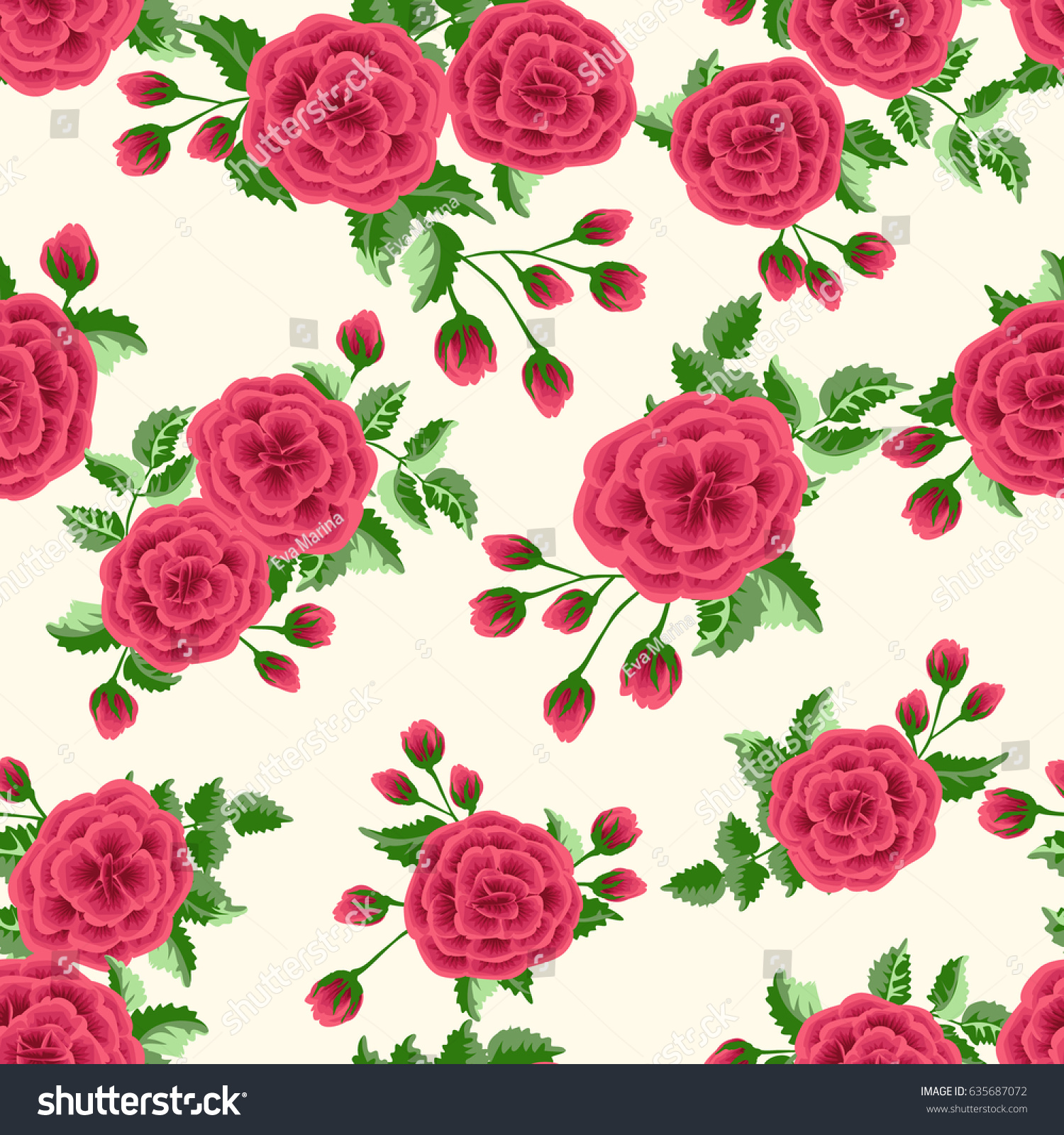 seamless pattern small cute flowers lovely stock photo (photo