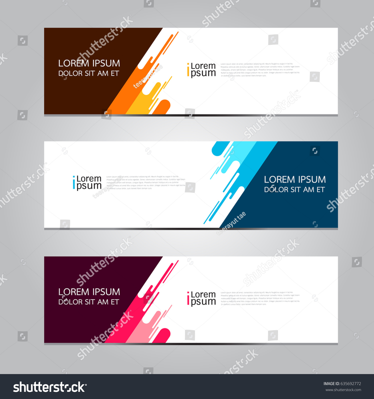 Vector abstract geometric design banner web template. #635692772
