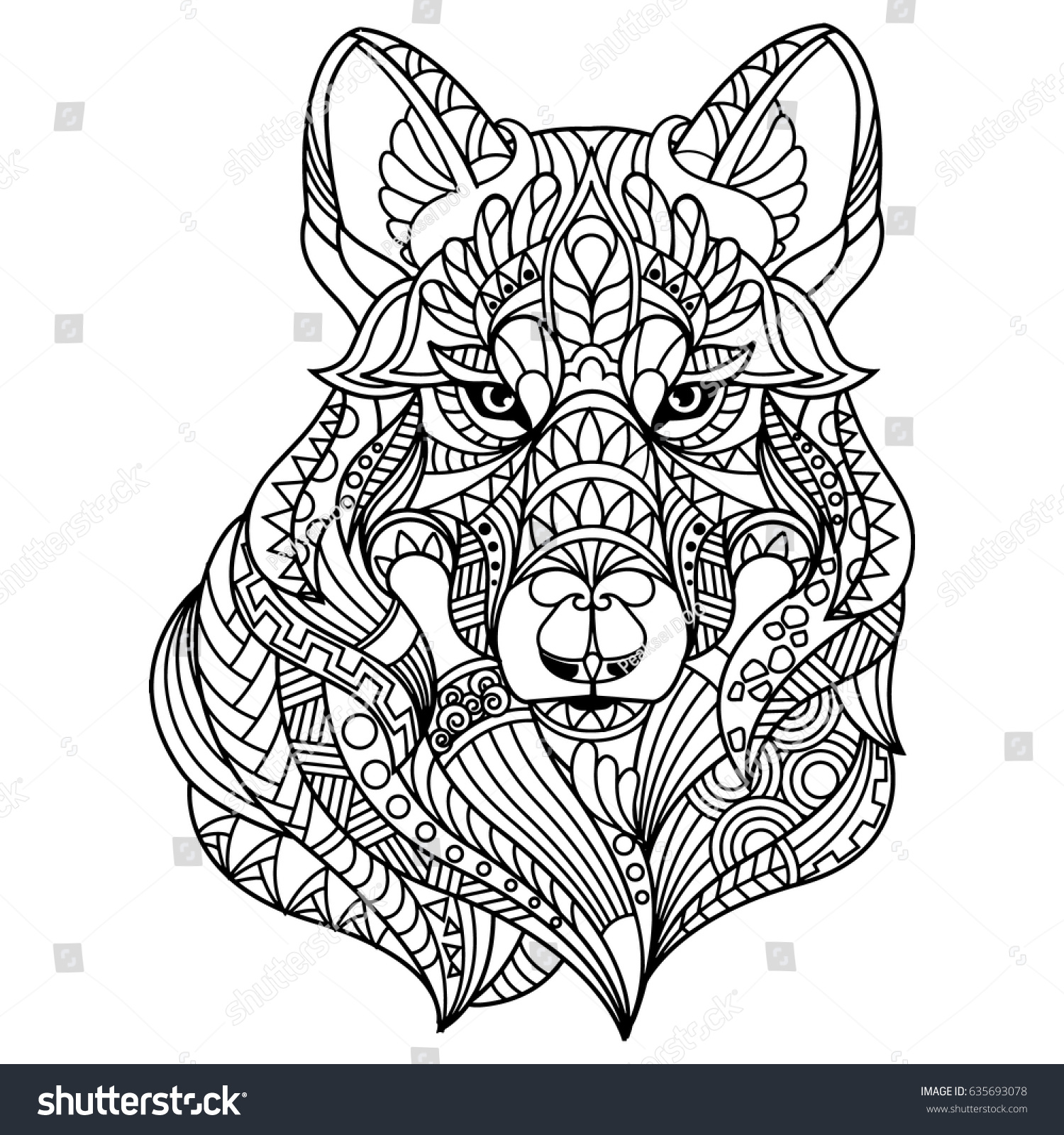 wolf coloring book for adults - Wolf Coloring Book
