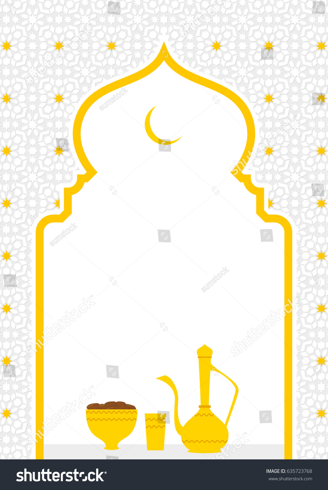 Ramadan iftar invitation card template copy stock vector royalty ramadan iftar invitation card template with copy space stopboris Gallery