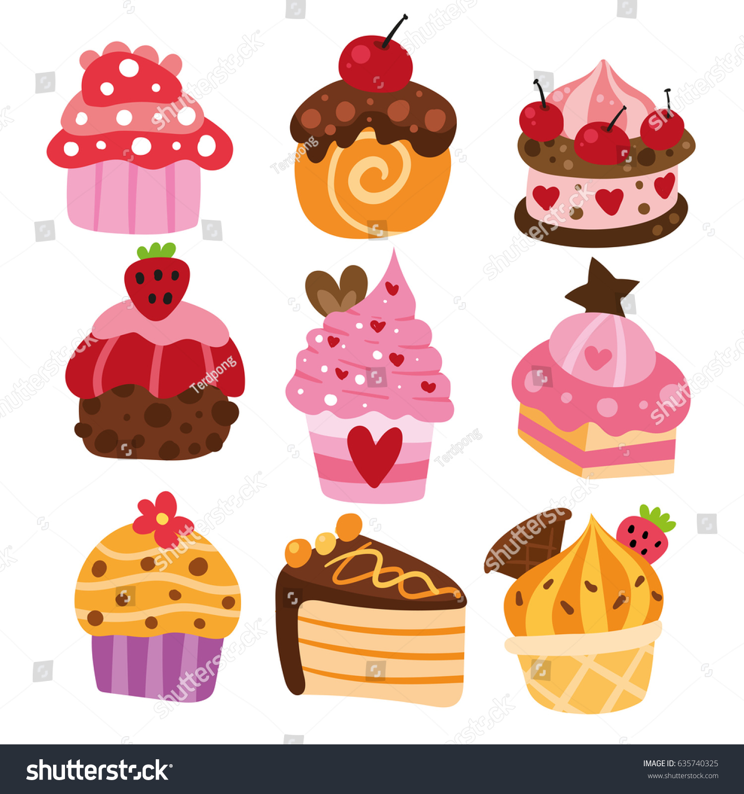 Larva Cartoon Cake Design : Cake Cartoon Vector Design Stock Vector 635740325 ...