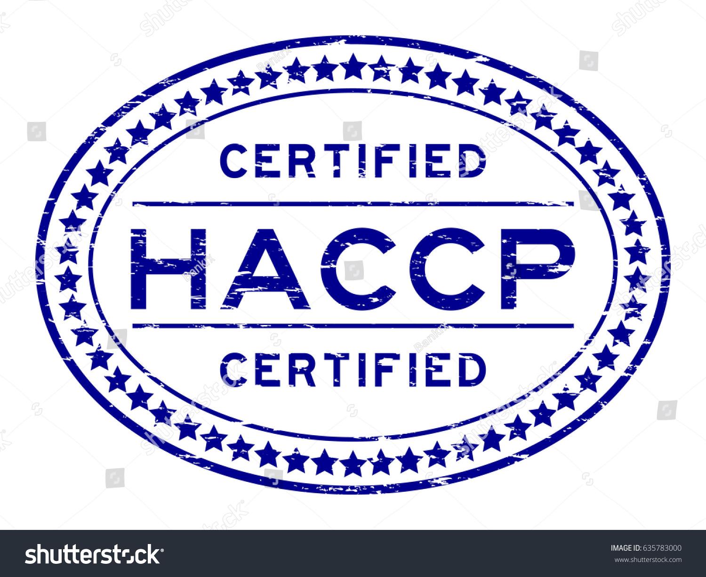 Grunge Blue Haccp Hazard Analysis Critical Stock Photo Photo