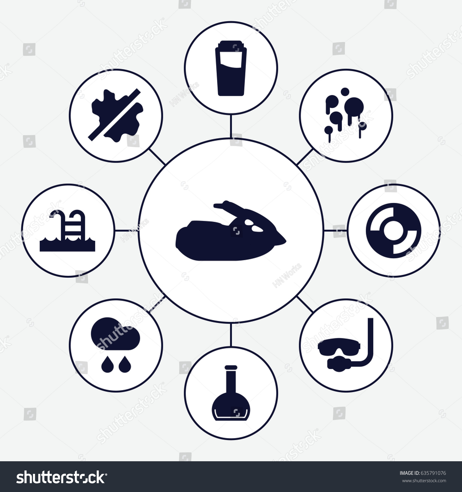 Water icons set set 9 water stock vector 635791076 shutterstock water icons set set of 9 water filled icons such as drink no wash biocorpaavc