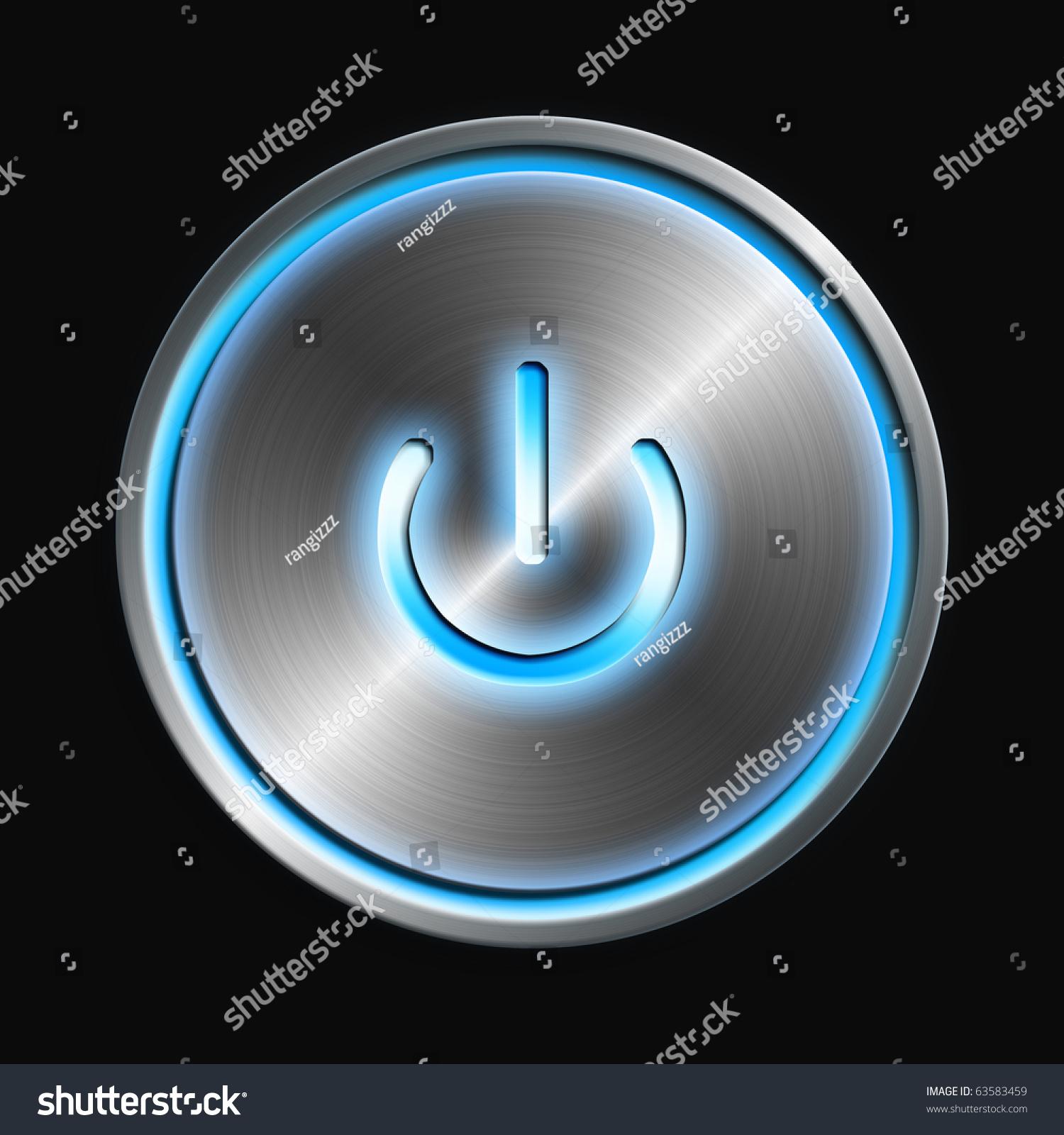 Glowing Power Button Stock Illustration 63583459 - Shutterstock