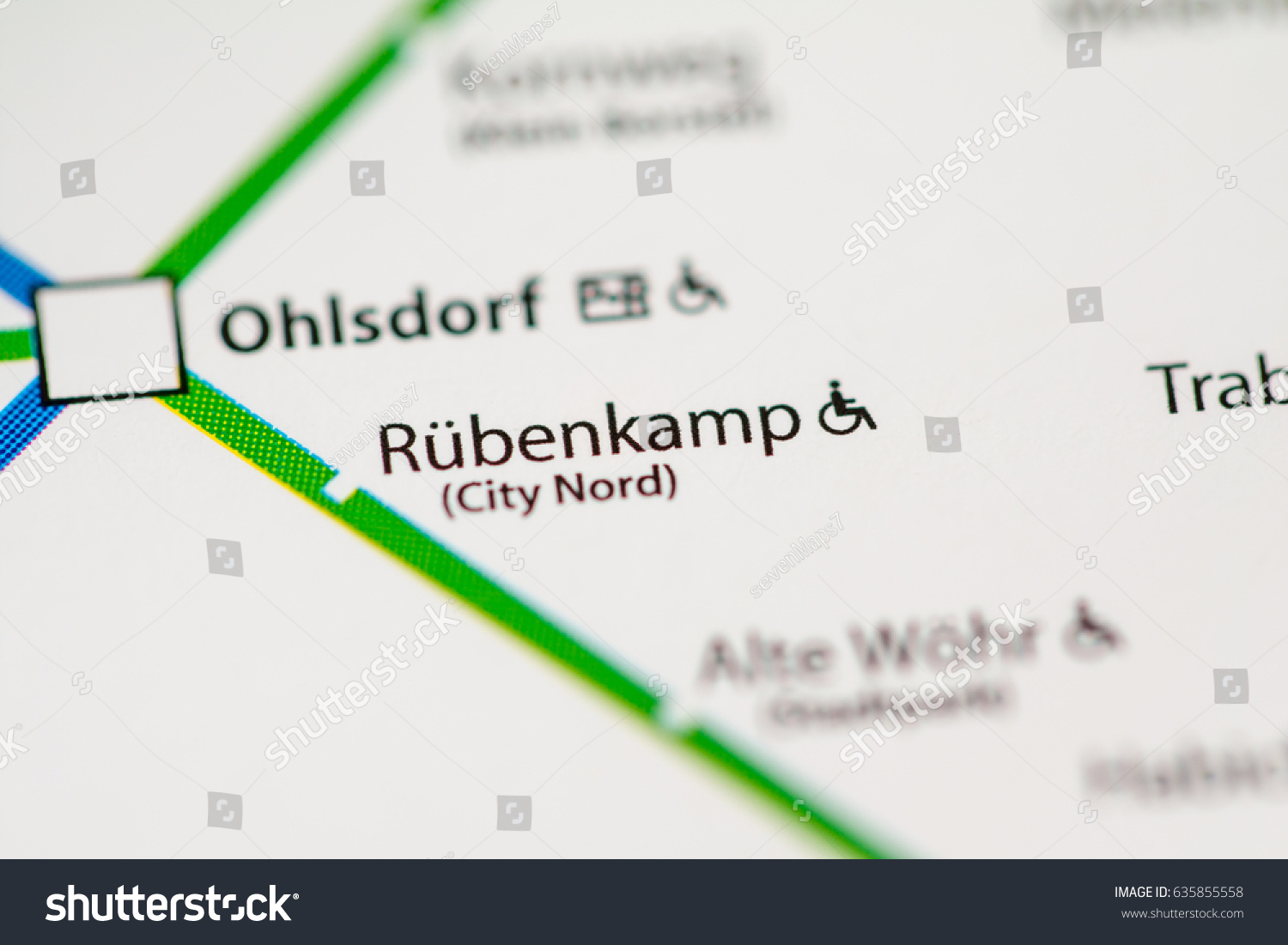 Hamburg Subway Map.Rubenkamp Station Hamburg Metro Map Stock Photo Edit Now 635855558