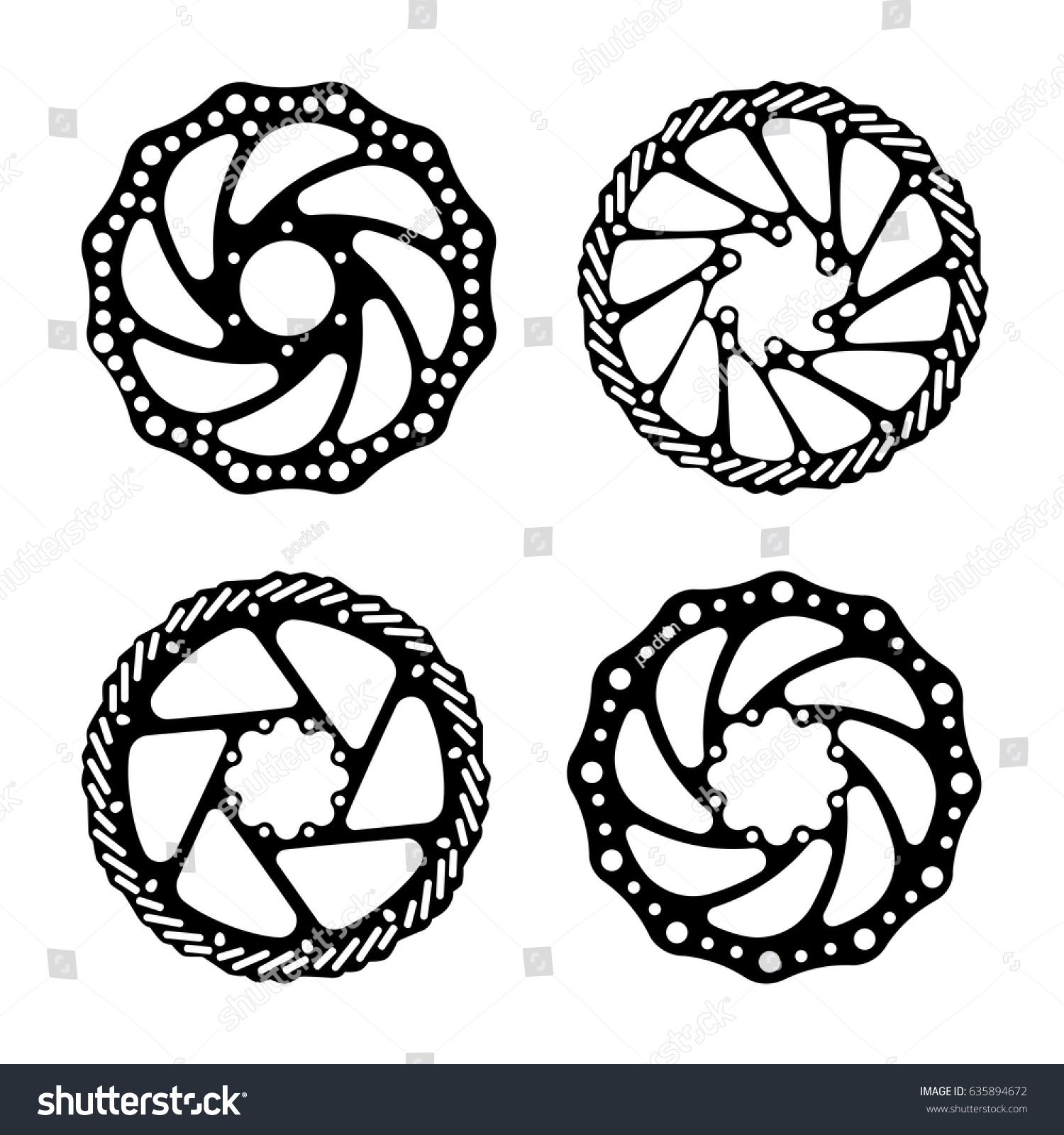 Bicycle Brake Disc Bicycle Parts Vector Stock Vector Royalty Free
