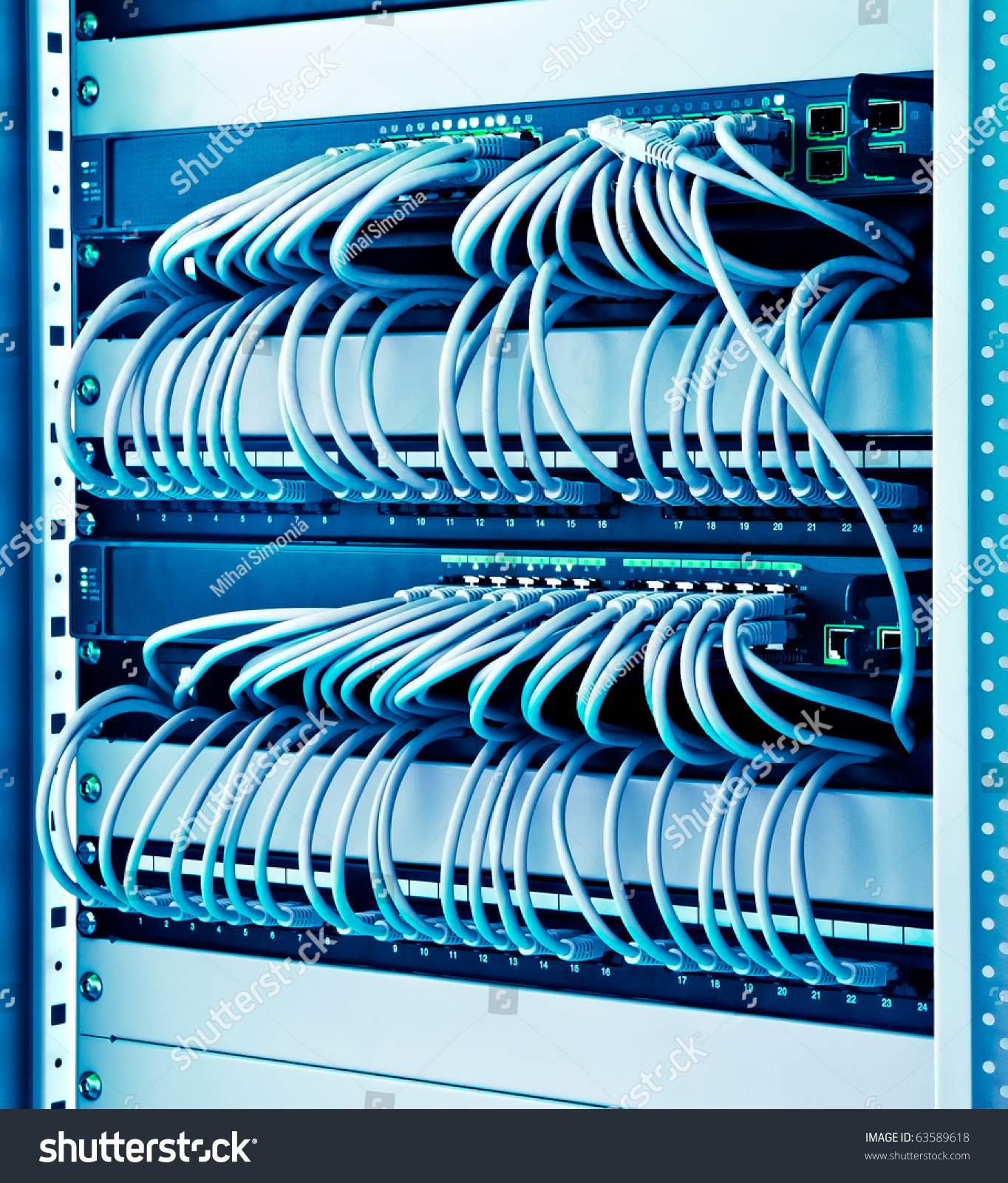 Network Rack Cables Switches Patch Stock Photo 63589618 - Shutterstock