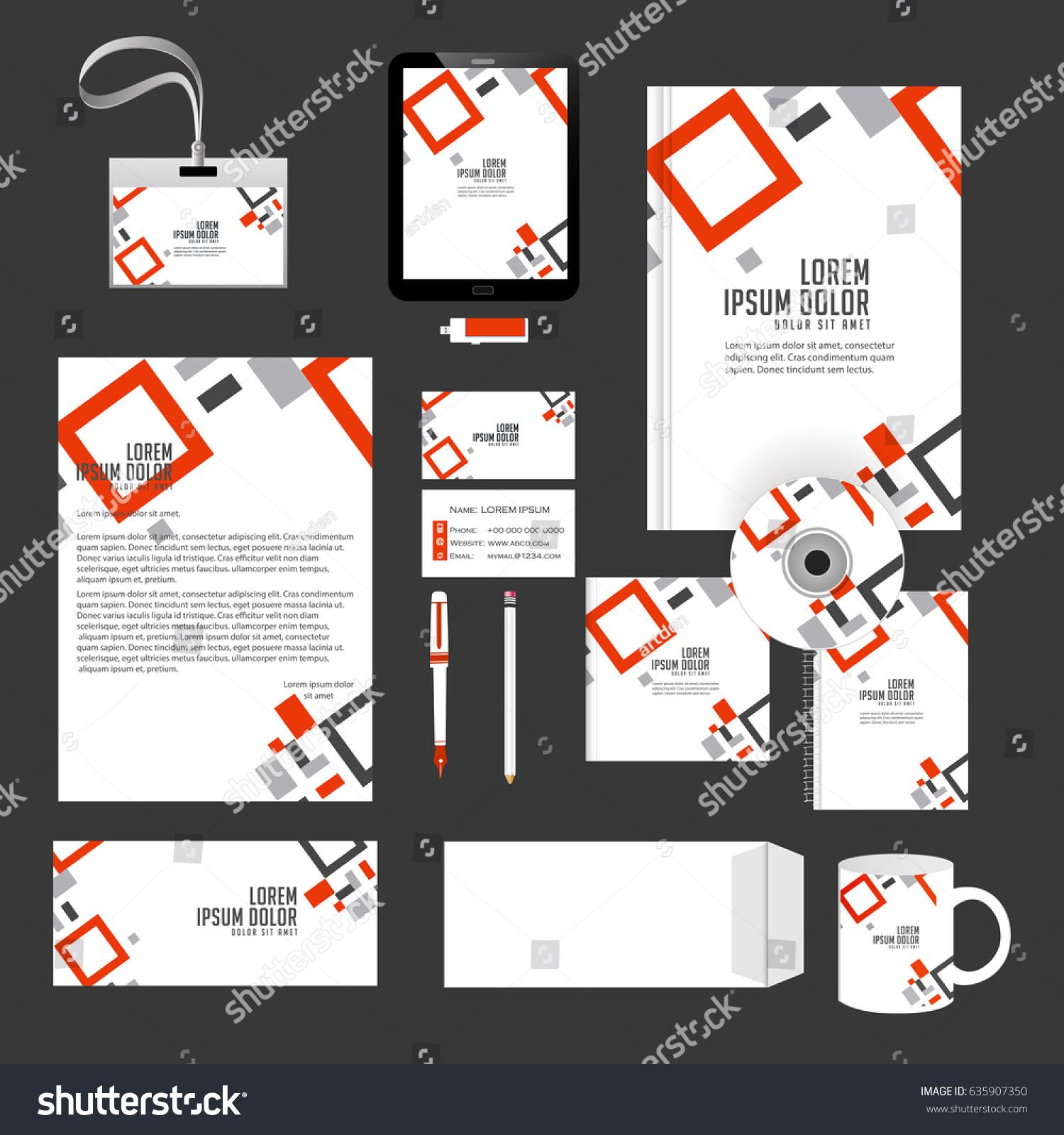 Creative Templates Office Stationery Creative Design Stock Vector ...