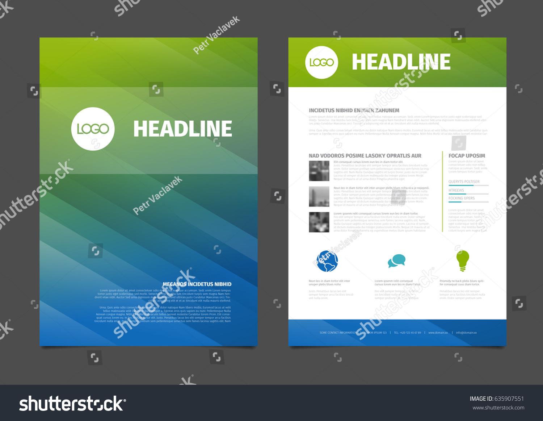 Modern Business Brochure Flyer Vector Template Vector – Sample Business Brochure