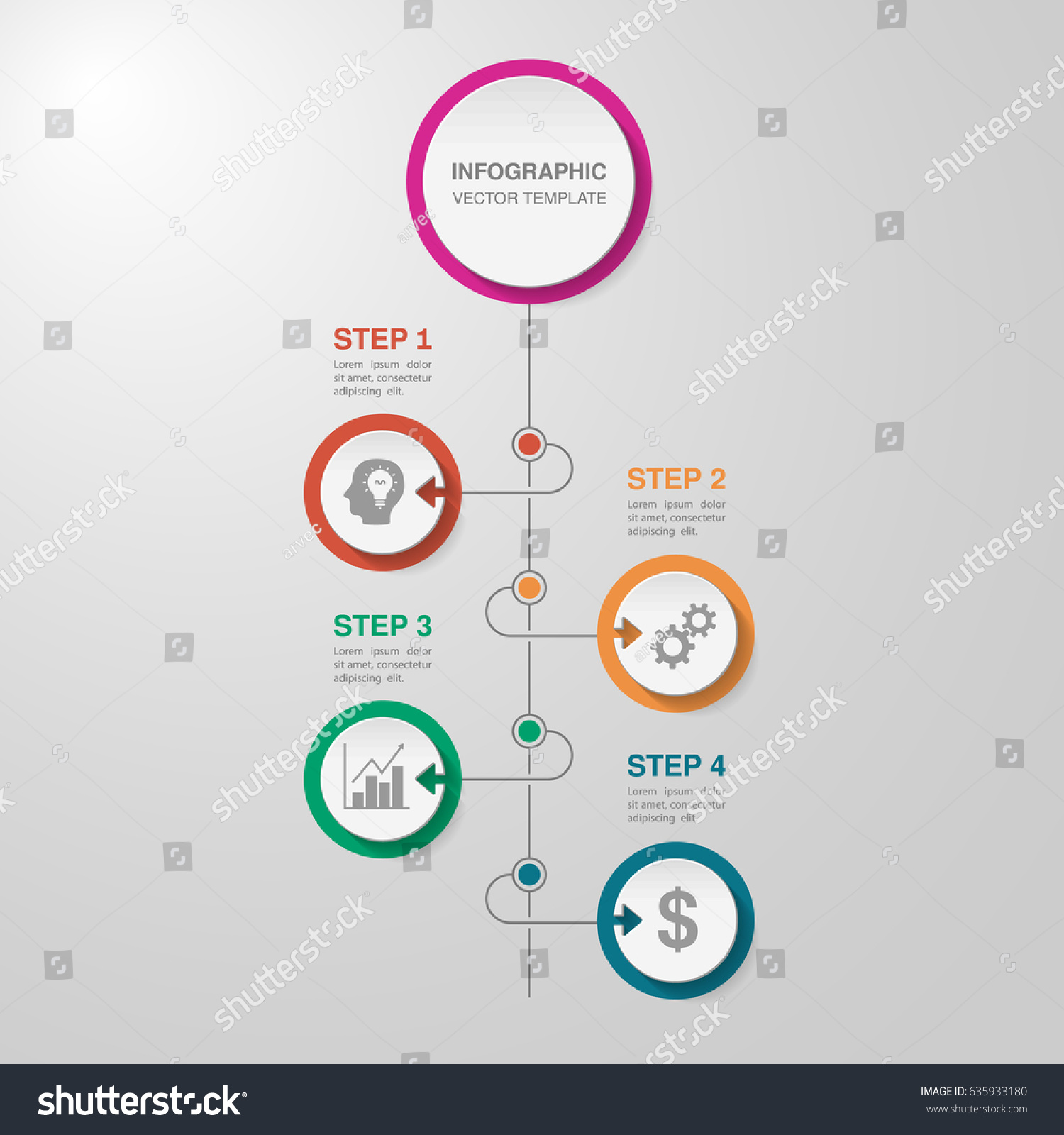 Vector Infographic Template Diagram Graph Presentation Stock Vector ...
