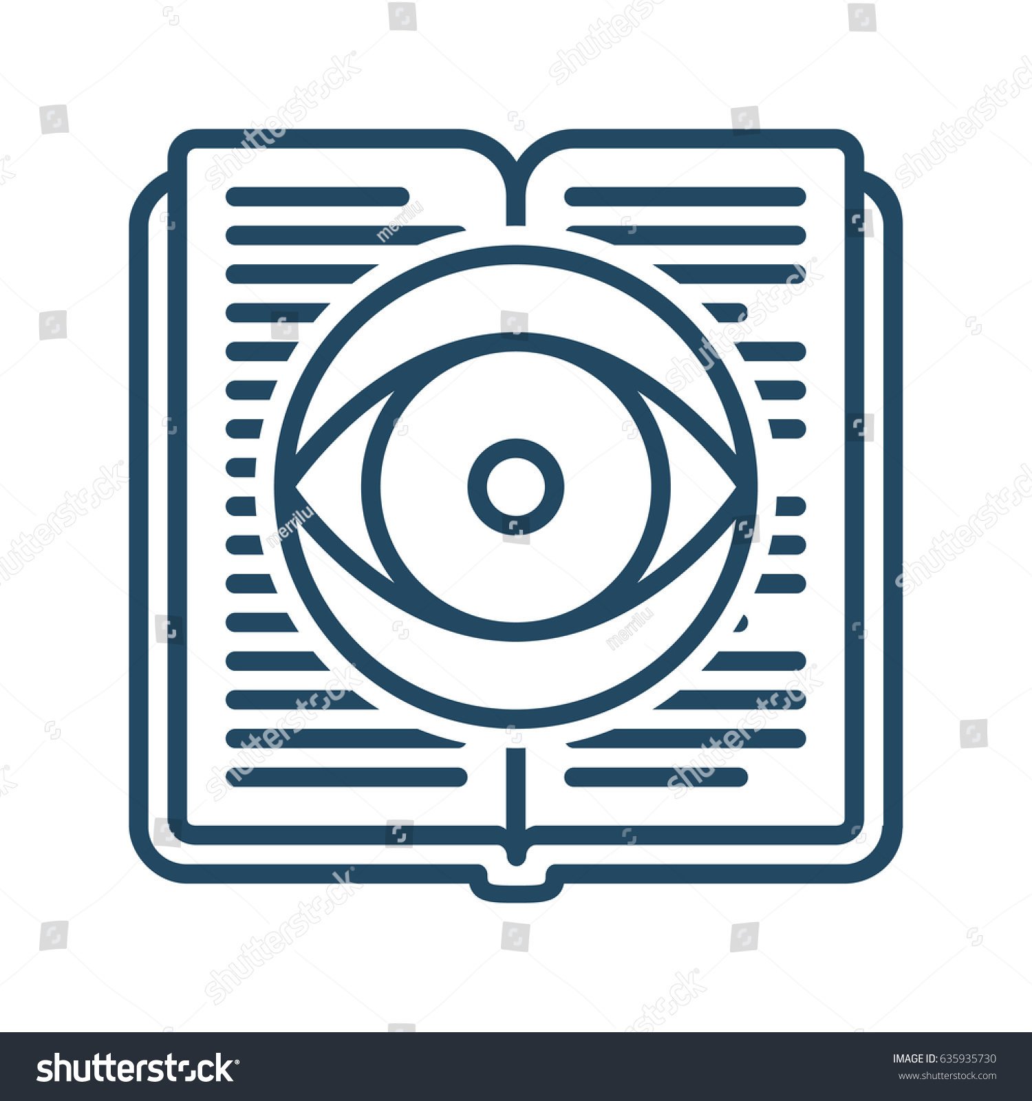 Eye inside book vector icon meaning stock vector 635935730 eye inside book vector icon in meaning knowledge biocorpaavc Images