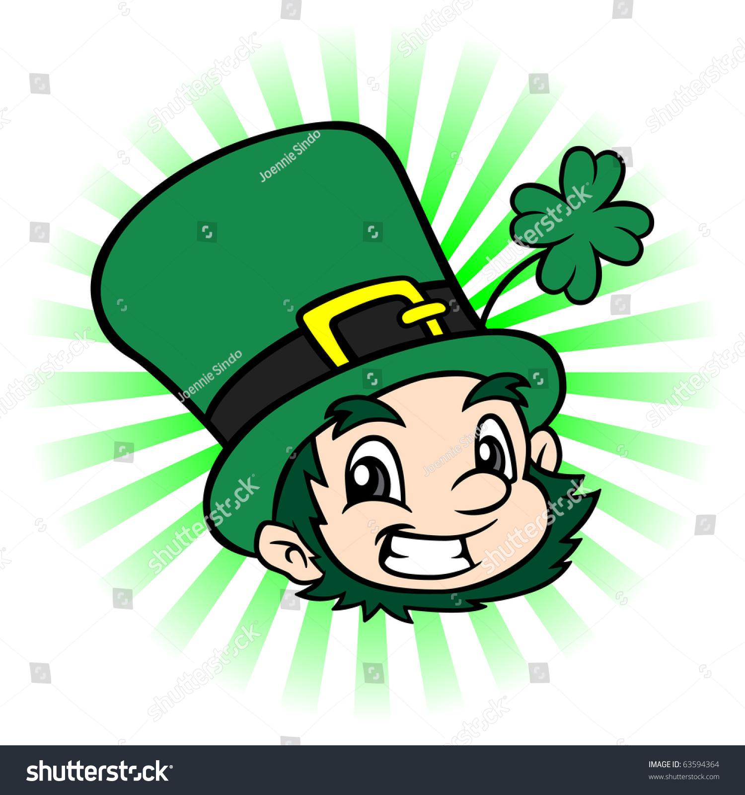 cartoon illustration st patricks day leprechauns stock illustration