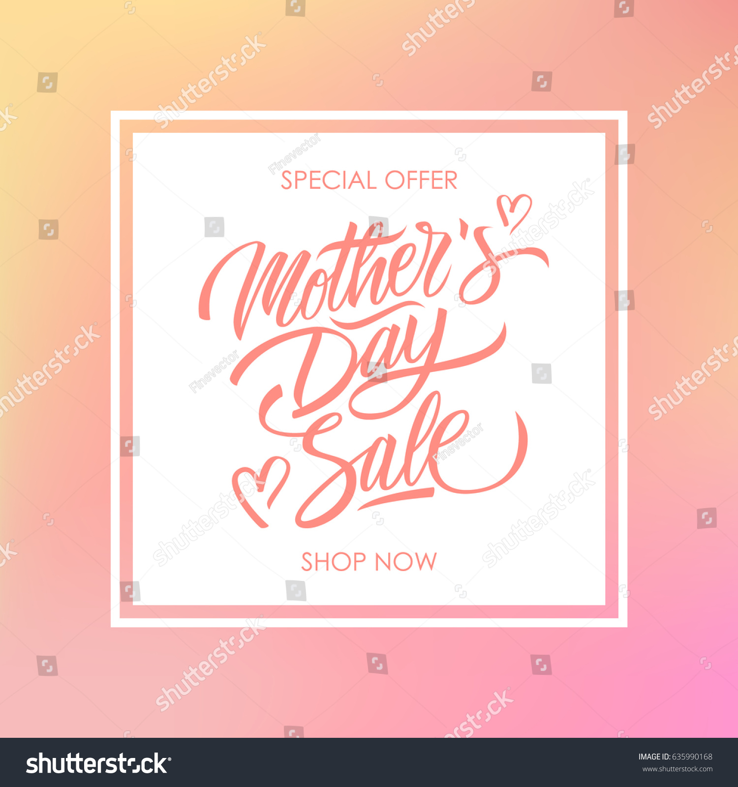 Mothers day sale special offer card stock vector 635990168 mothers day sale special offer card for business promotion and advertising calligraphic lettering text kristyandbryce Image collections