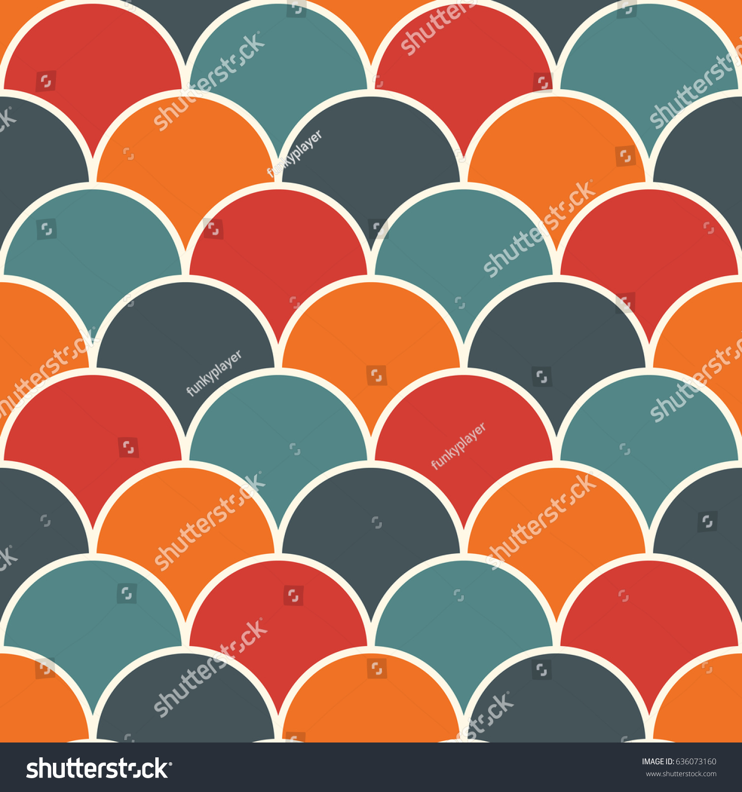 Bright Colors Fish Scale Wallpaper Asian Stock Vector (2018 ...