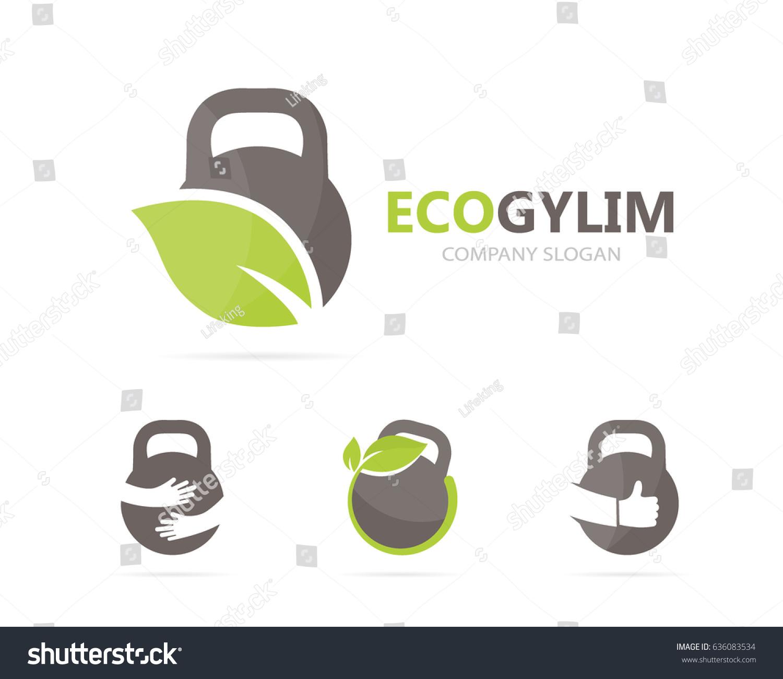 Vector sport leaf logo combination gym stock vector 636083534 vector of sport and leaf logo combination gym and eco symbol or icon unique buycottarizona Choice Image