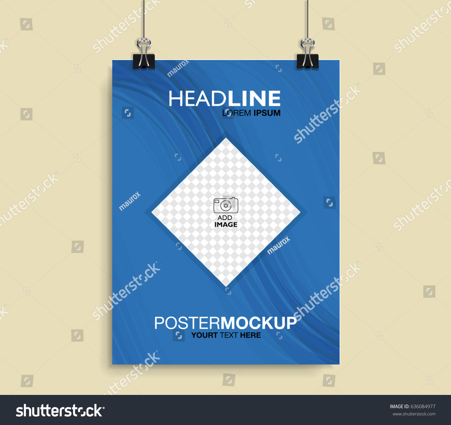 vector poster mockup template can be stock vector 636084977