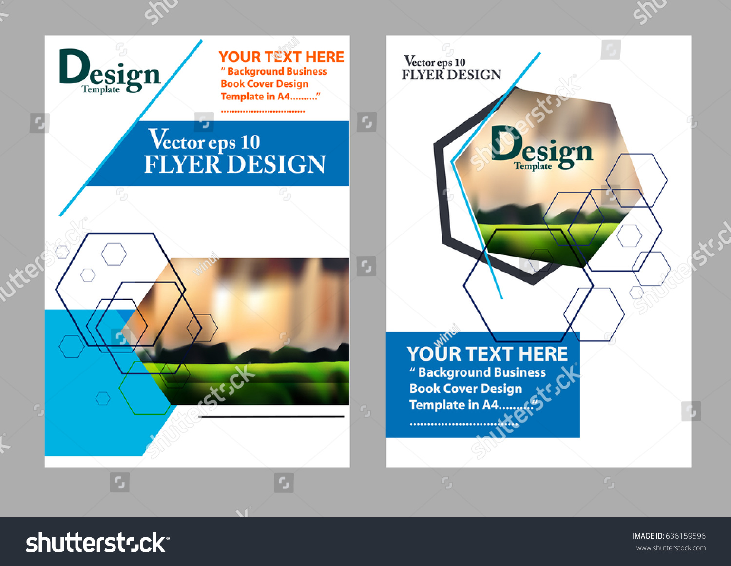 Layout Design Template Cover Book Geographic Stock Vector ...