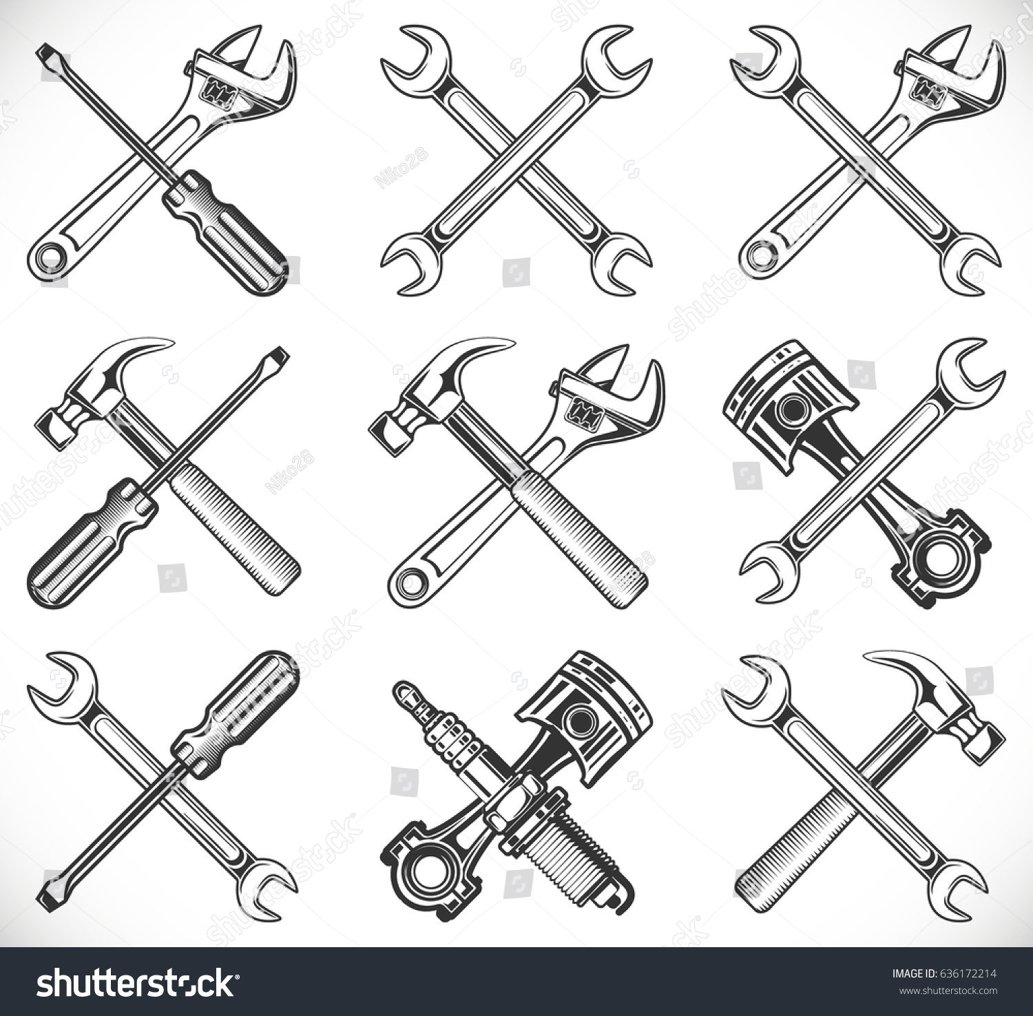 Wrench Piston Images, Stock Photos & Vectors | Shutterstock