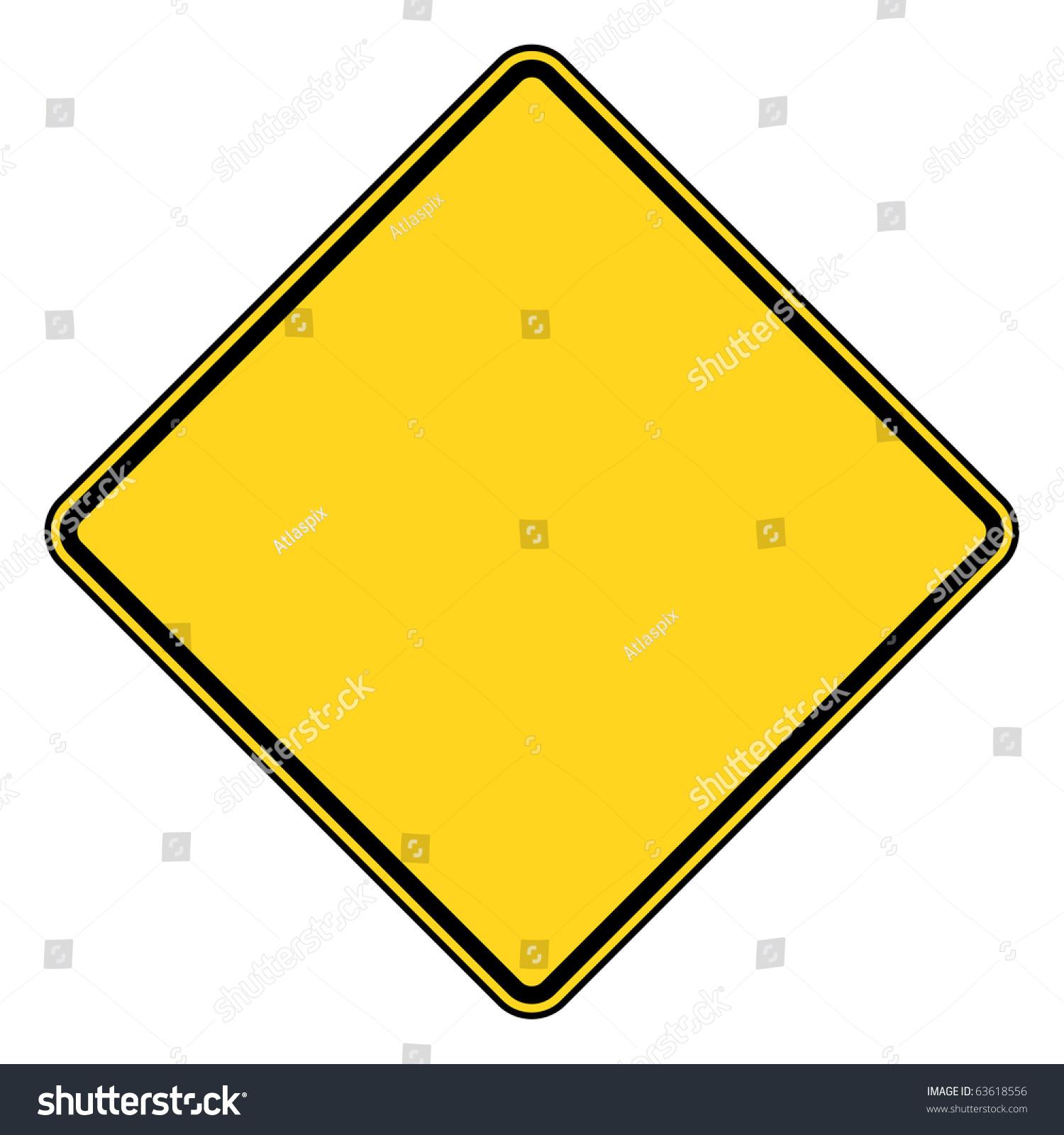 Blank Diamond Shaped Road Sign Copy Stock Illustration ...