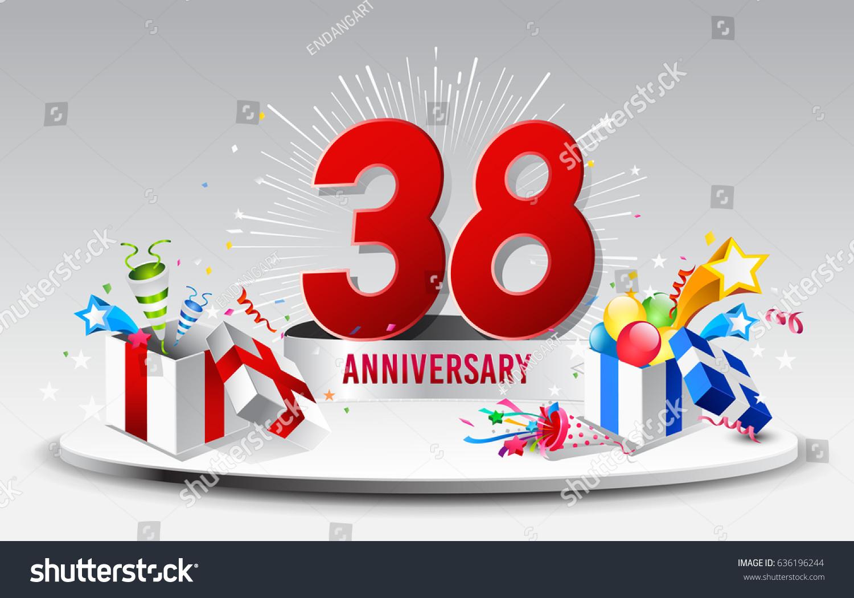 Anniversary celebration background ~ Th anniversary celebration background stock vector