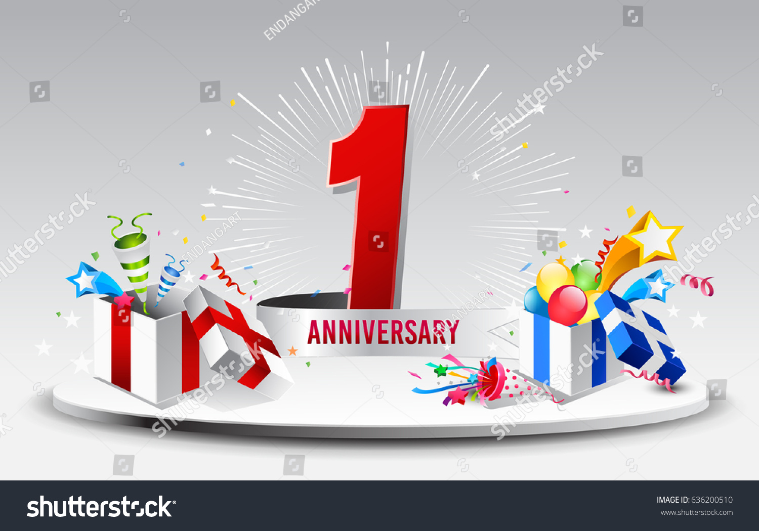 St anniversary celebration background stock vector stock photo