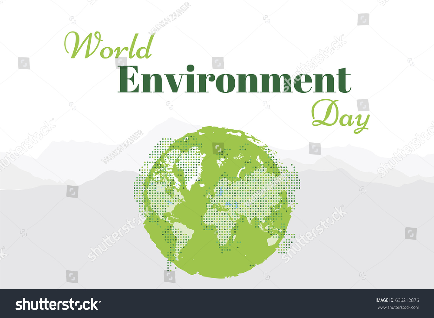 Banner world environment day world map stock vector 636212876 banner world environment day with world map flat vector illustration eps 10 gumiabroncs Images