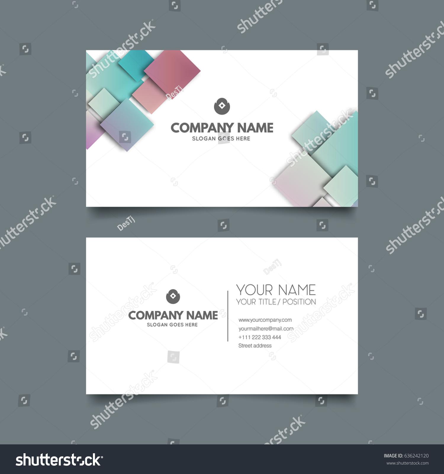 Creative modern business card stock vector 636242120 shutterstock colourmoves