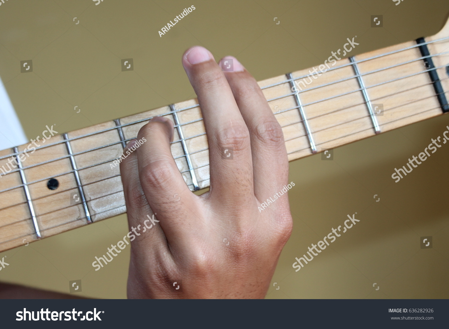 Chord Gm Guitar Closeup Stock Photo Edit Now 636282926 Shutterstock