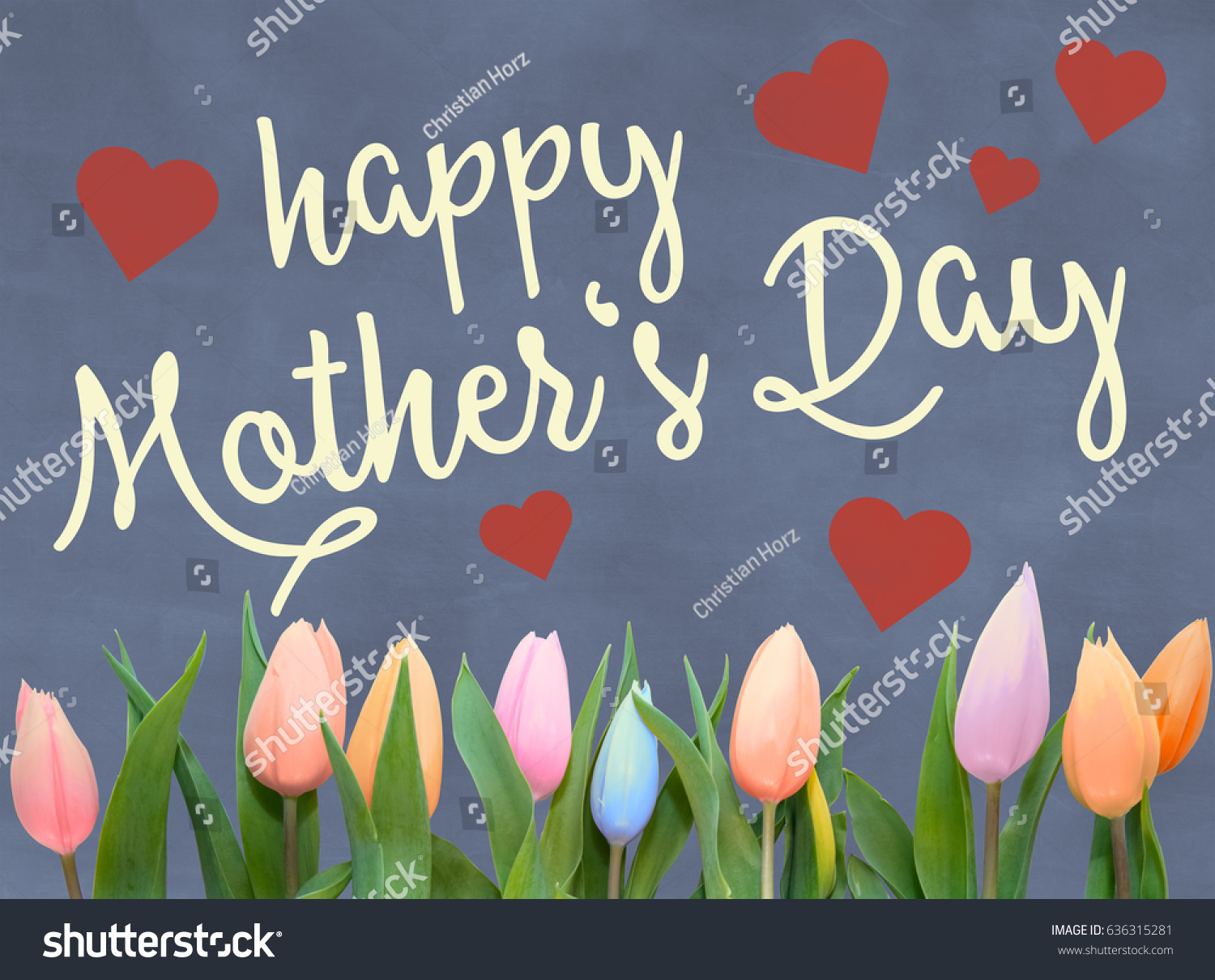 Mothers Day Greeting Card Words Happy Stock Illustration 636315281