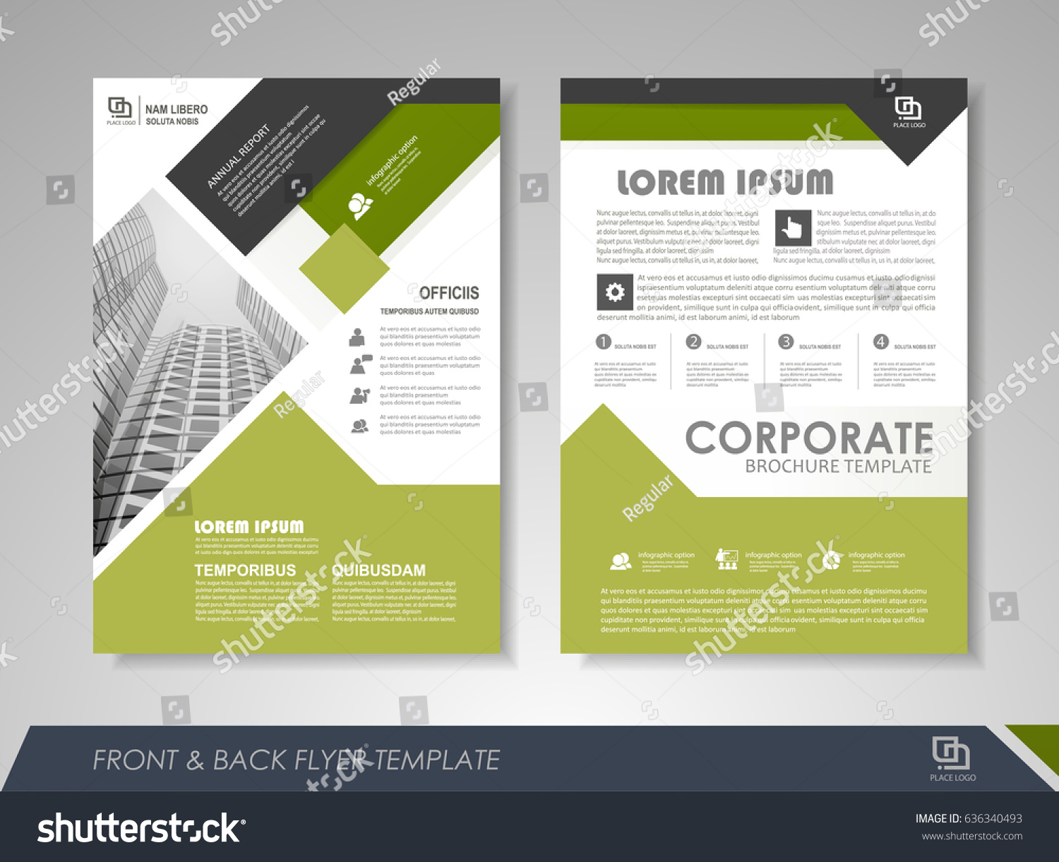 Front And Back Page Annual Report Brochure Flyer Design Vector
