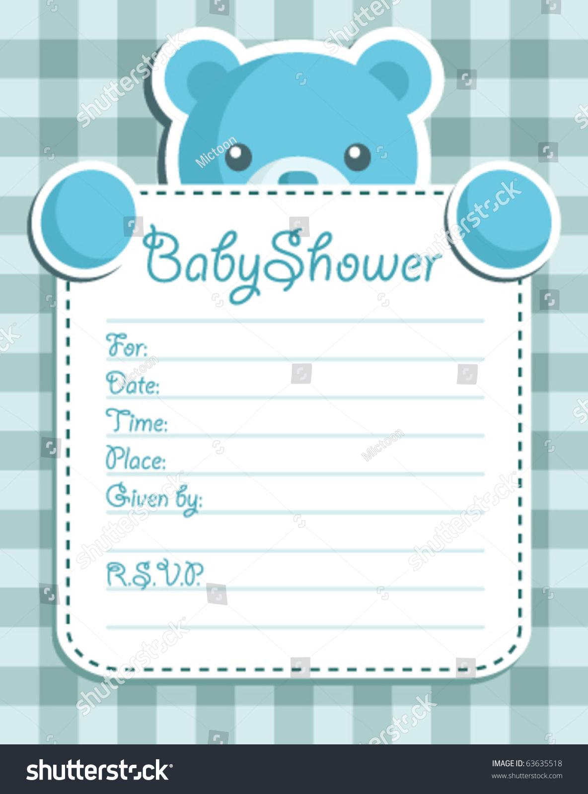 baby boy shower invitation stock vector   shutterstock, Baby shower invitations