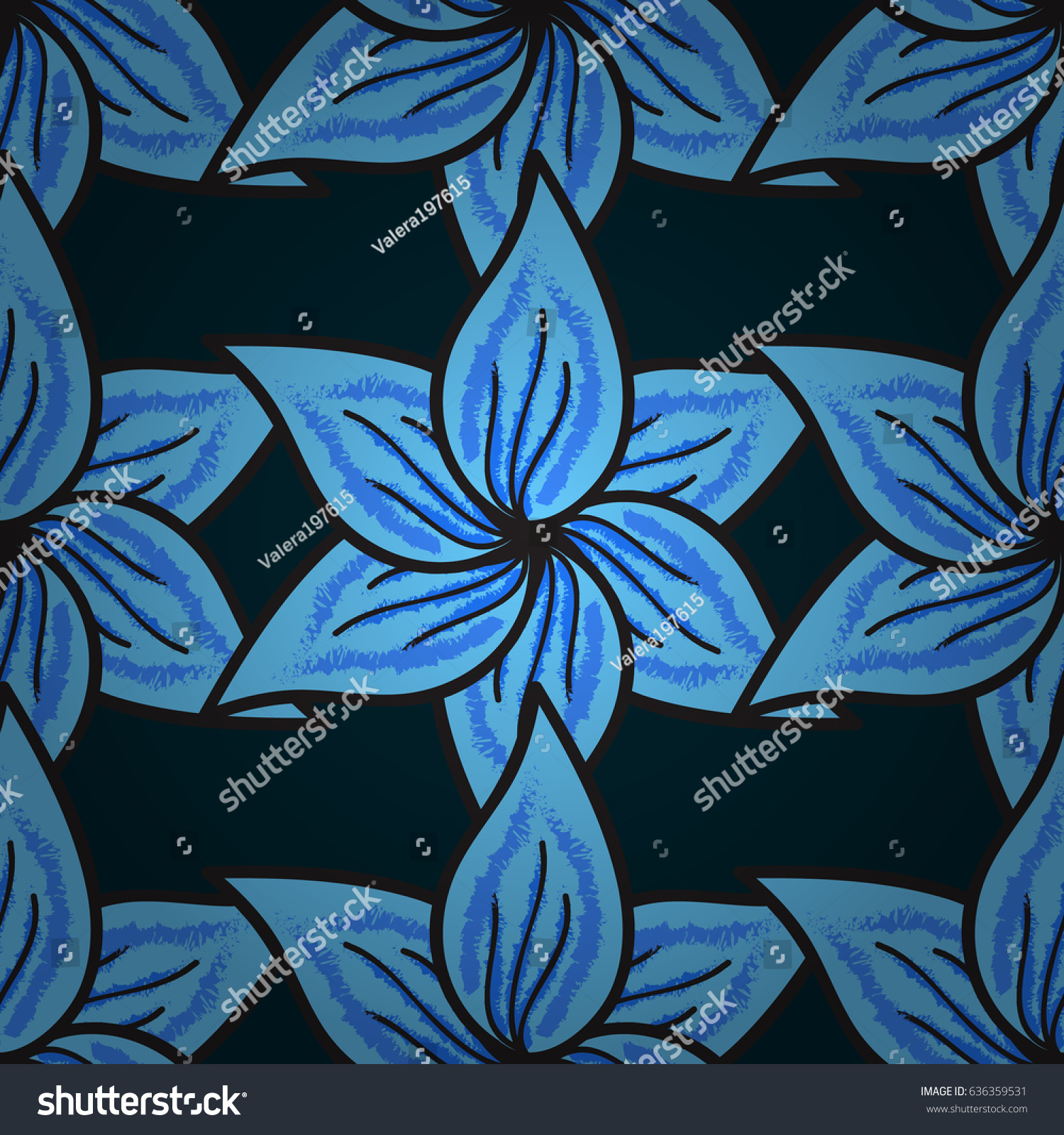 Vector Abstract Flower Background Pretty Floral Stock Vector