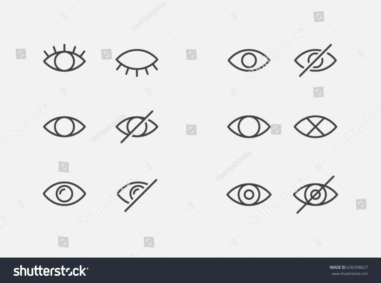 Visible Invisible Icon Symbol Sign Collection Stock Vector Royalty