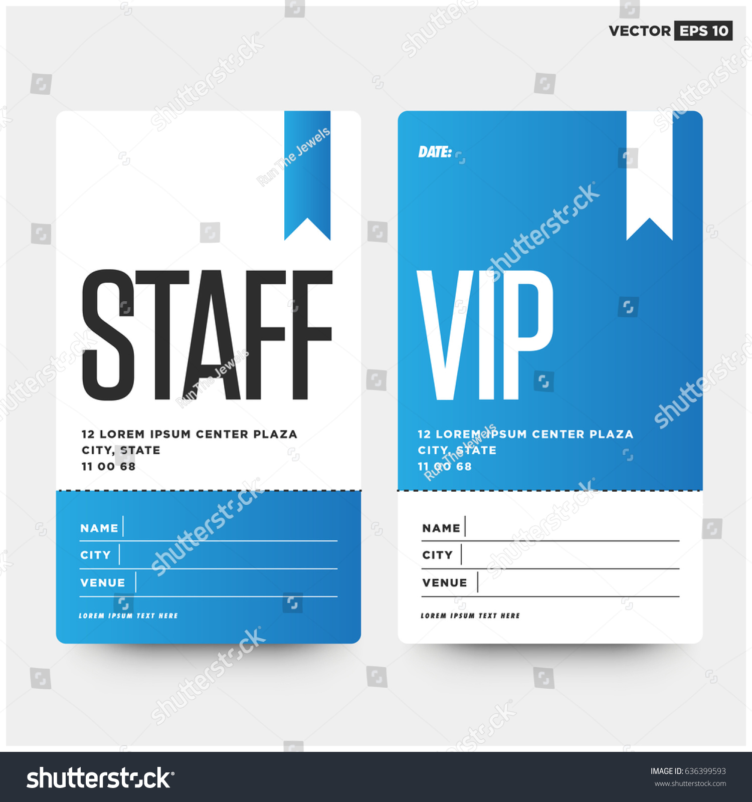 staff vip entry id card design stock vector 636399593 shutterstock. Black Bedroom Furniture Sets. Home Design Ideas