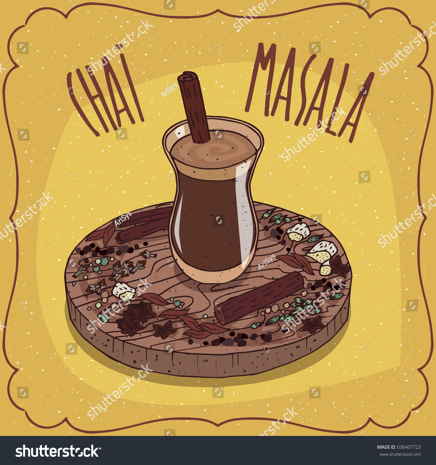 Traditional Food Of Indian Cuisine Masala Chai Like Mixed Spice Tea With Mixture
