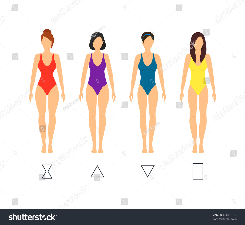 Cartoon Female Body Shape Types Woman Stock Illustration 636412967 ...