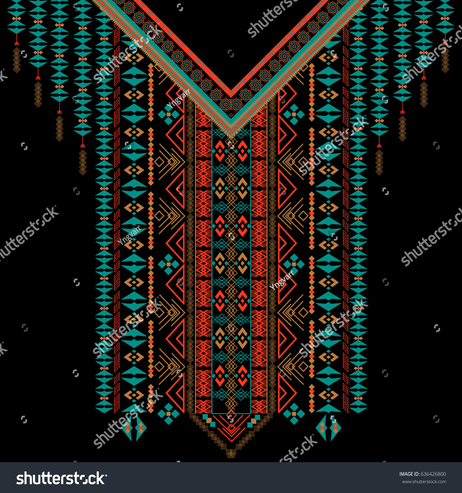 Design t shirt embroidery - Vector Design For Collar Shirts Shirts T Shirt Embroidery Ethnic Geometric Elements
