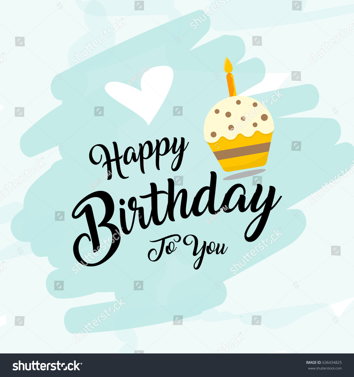 Happy birthday vector fot greeting card stock vector 2018 happy birthday vector fot greeting card website invitation letter composition stopboris Images
