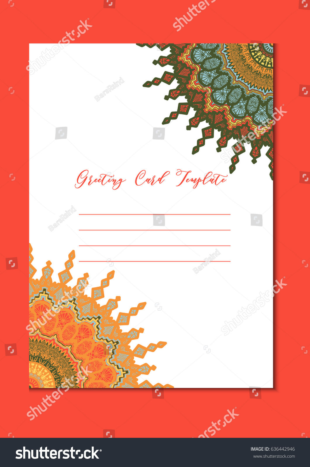 Mandala vintage template card in arabic and indian, islam and ...