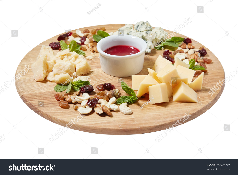 Cheese Plate Antipasti Snack Mixed Italian Stock Photo Edit Now 636456227