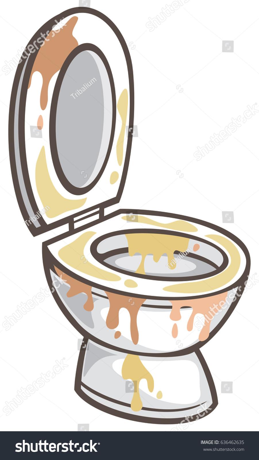 Dirty Toilet Bowl Vector Illustration Stock Vector 636462635 Shutterstock