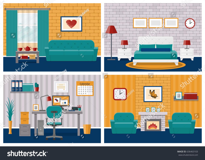 Cartoon House Living Room Www Pixshark Com Images