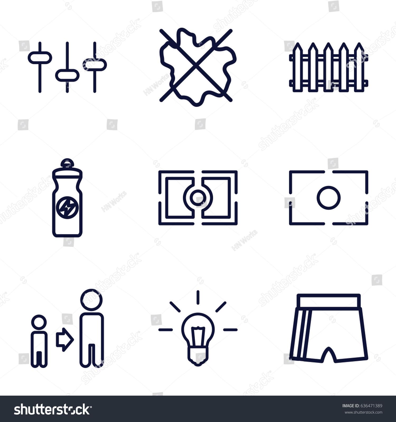 Creative icons set set 9 creative stock vector 636471389 creative icons set set of 9 creative outline icons such as fence no wash biocorpaavc