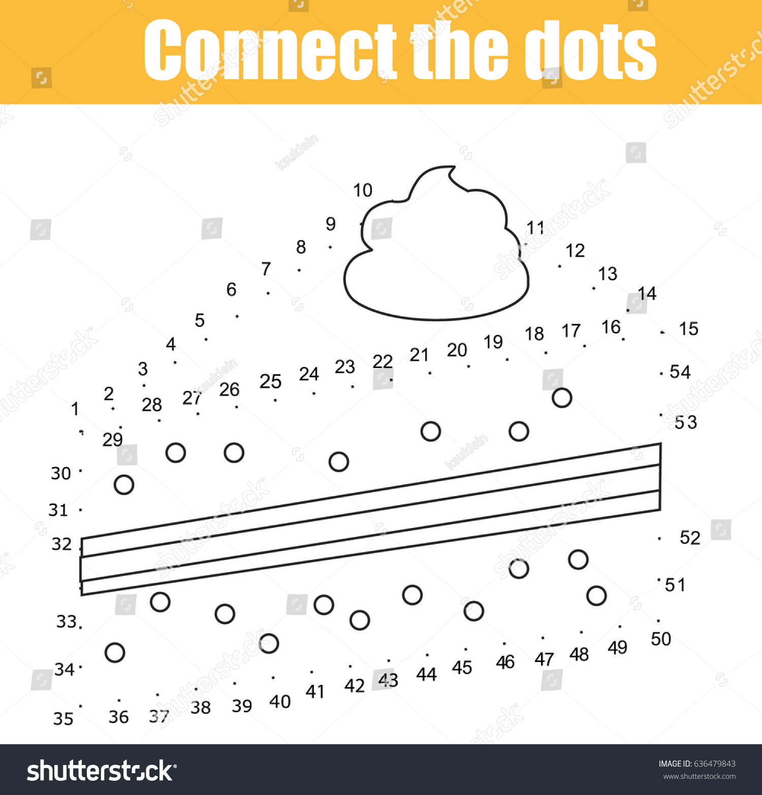 connect dots children educational game dot stock vector 636479843