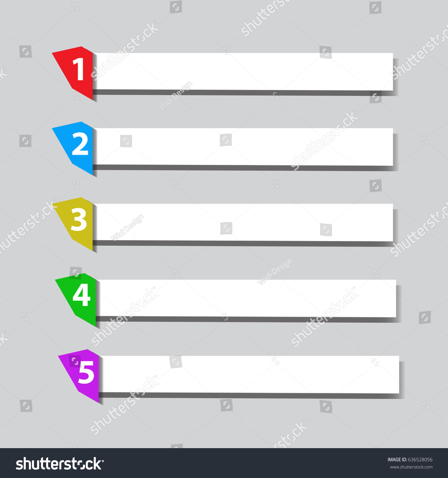 Sequence Rank Template Info Graphic Chart Stock Vector 636528056 ...