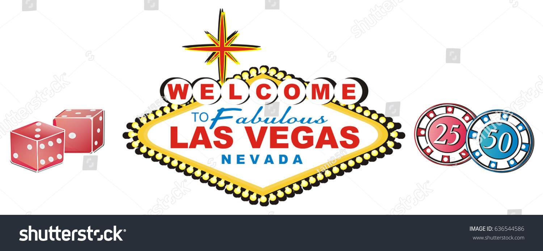 Three Colored Symbols Las Vegas Stock Illustration Royalty Free