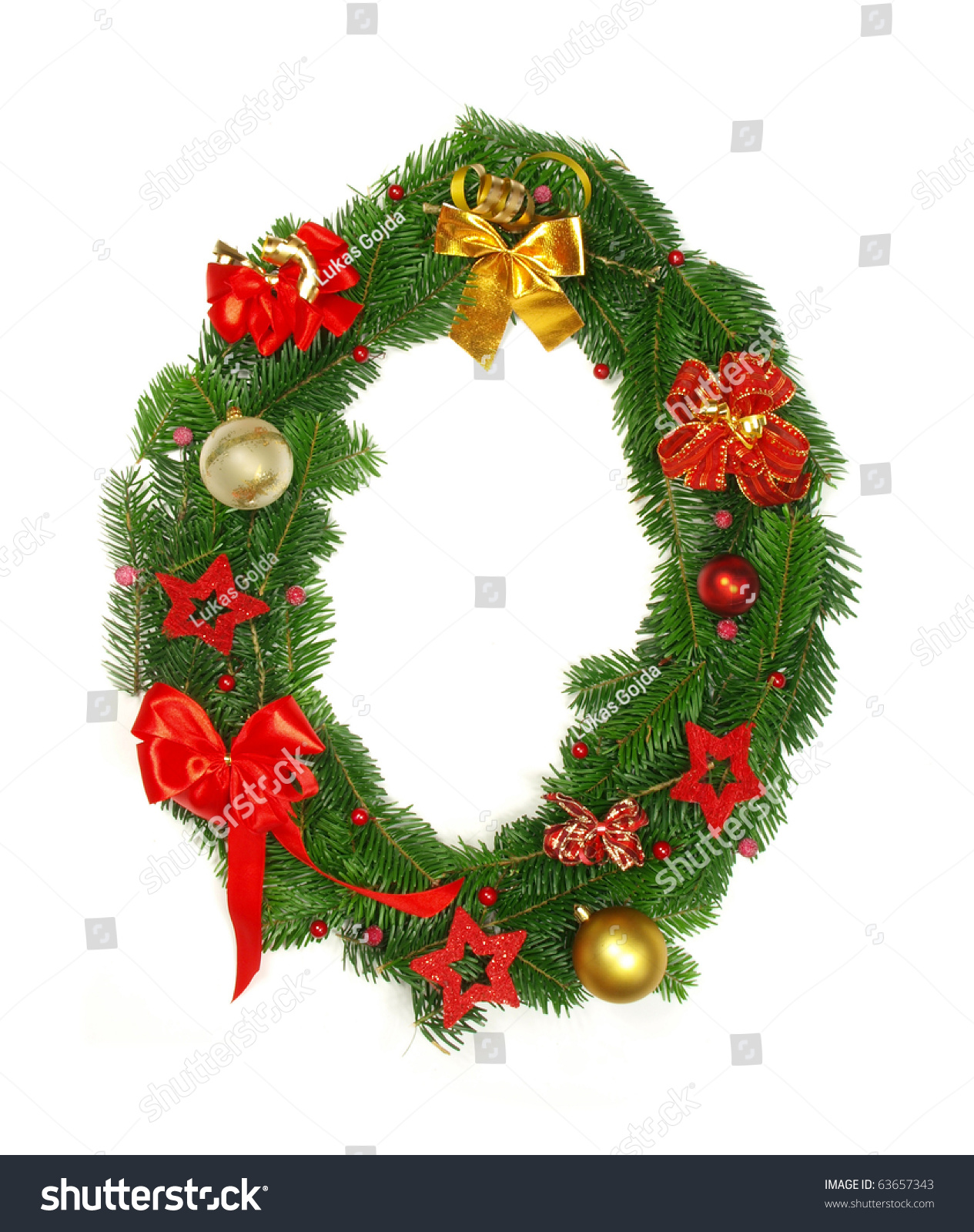 Christmas Alphabet Letter O Stock Photo 63657343
