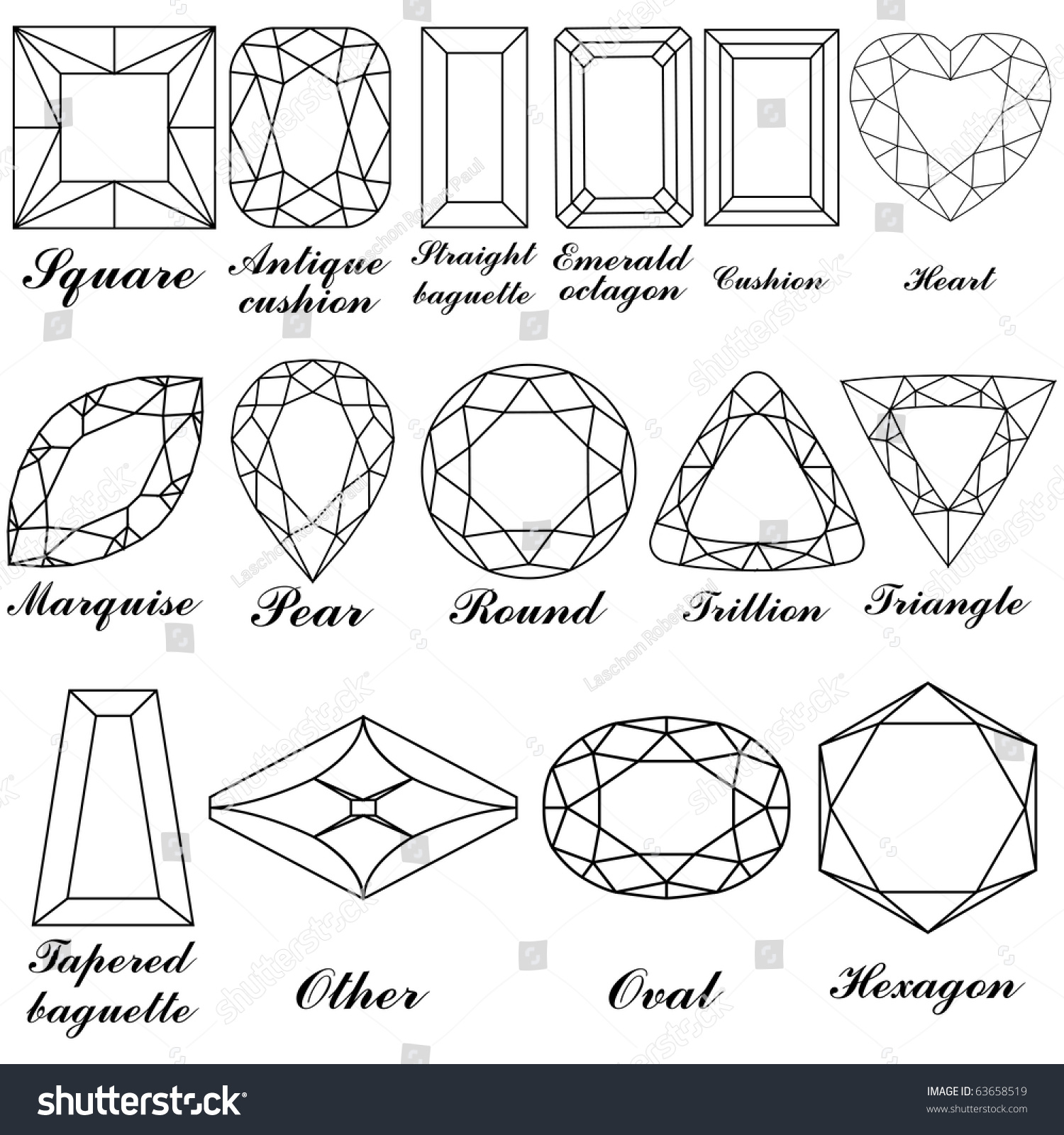 Worksheet Names Shapes stone shapes their names against white stock illustration 63658519 and background abstract art for vector format